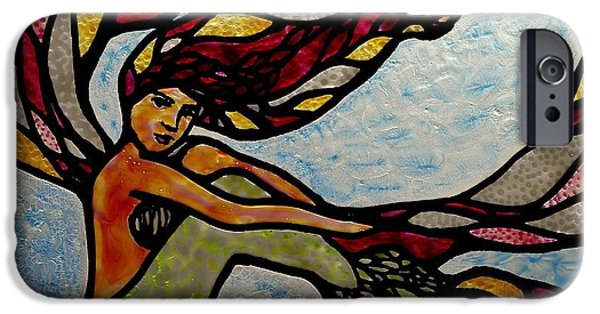 Vivid Glass iPhone Cases - Siren Sighs iPhone Case by Teresa Young
