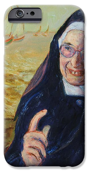 Sister Wendy iPhone Case by Xueling Zou