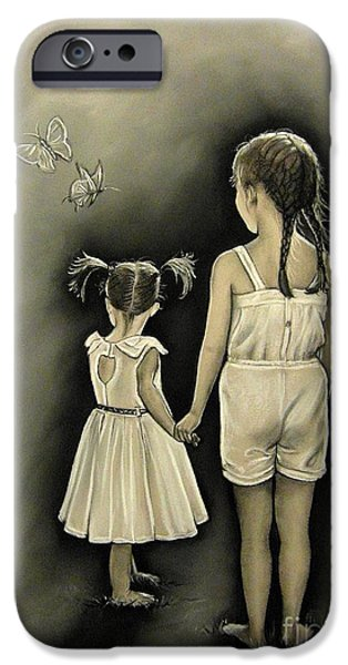 Buterfly iPhone Cases - Sisters... iPhone Case by Anastasis  Anastasi