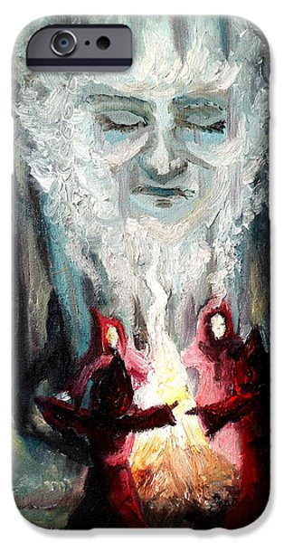 Fury iPhone Cases - Sisters of the Night iPhone Case by Shana Rowe