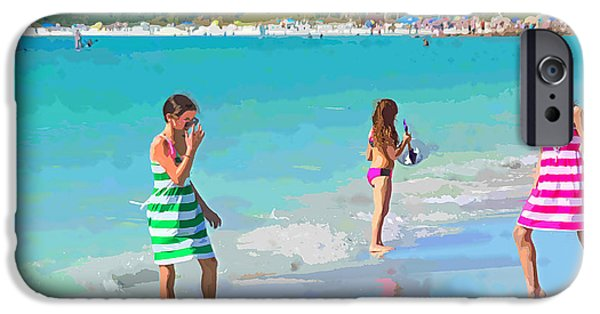 A Hot Summer Day iPhone Cases - Sisters iPhone Case by Susan Molnar