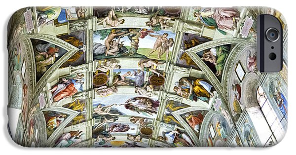 Pope iPhone Cases - Sistine Chapel iPhone Case by Jon Berghoff