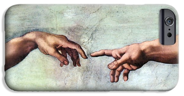 Michaelangelo iPhone Cases - Sistine Chapel iPhone Case by SPL and Photo Researchers