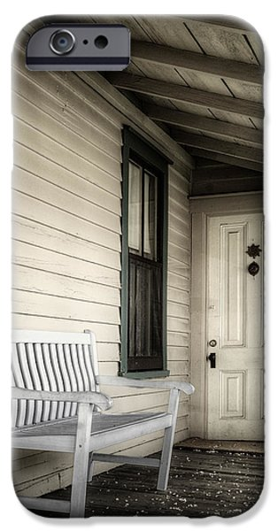 Overhang iPhone Cases - Sit Awhile iPhone Case by Joan Carroll