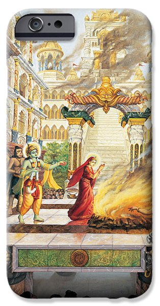 Epic iPhone Cases - Sita going to fire iPhone Case by Vrindavan Das