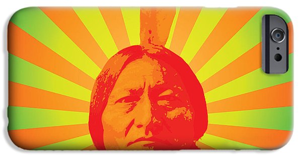 Native-american iPhone Cases - Sitting Bull iPhone Case by Gary Grayson