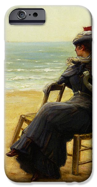 Sitting By The Sea iPhone Case by Edouard Bisson