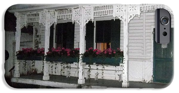 The White House Photographs iPhone Cases - Sitting On The Porch iPhone Case by Katherine Williams