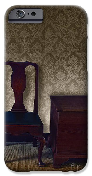 Sitting Room at Dusk iPhone Case by Margie Hurwich