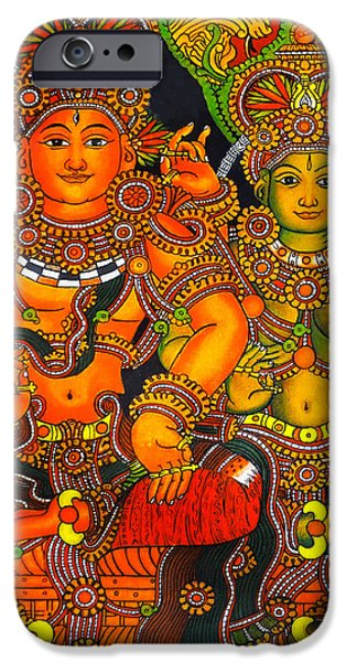 Hindu Goddess iPhone Cases - Siva And Parvathy iPhone Case by Arun Sivaprasad