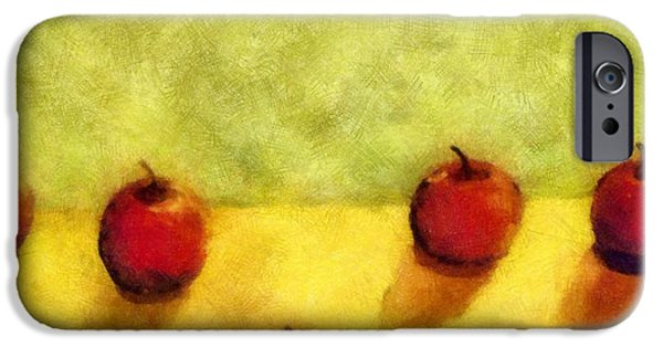 Apple iPhone Cases - Six Apples iPhone Case by Michelle Calkins