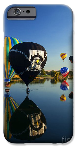 Balloon iPhone Cases - Six on the Pond iPhone Case by Mike  Dawson