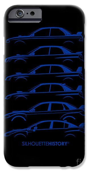 Boxer Digital iPhone Cases - Six Stars SilhouetteHistory iPhone Case by Gabor Vida