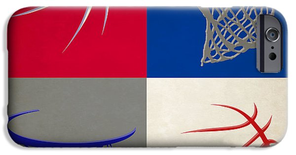 Dunk iPhone Cases - Sixers Ball And Hoop iPhone Case by Joe Hamilton