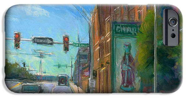 Charlotte Pastels iPhone Cases - Sixth and Graham iPhone Case by Greg Barnes