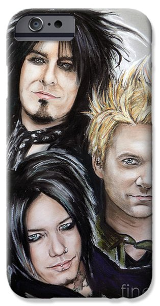 Michael Mixed Media iPhone Cases - Sixx AM iPhone Case by Melanie D