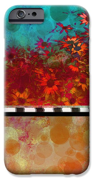 Sizzle abstract floral art iPhone Case by Ann Powell