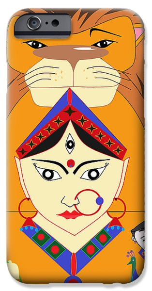 Hindu Goddess iPhone Cases - Skandmata iPhone Case by Pratyasha Nithin
