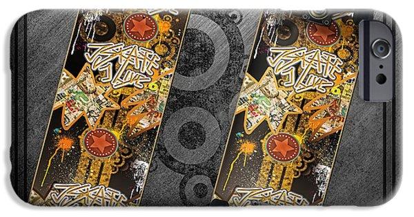 Skateboard iPhone Cases - Skateboard iPhone Case by Mo T
