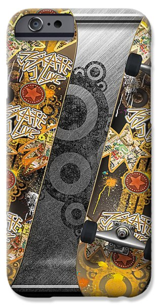 Skateboard iPhone Case by Mo T