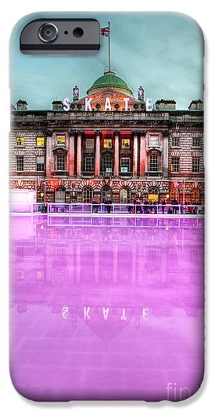 Skating at Somerset House iPhone Case by Jasna Buncic