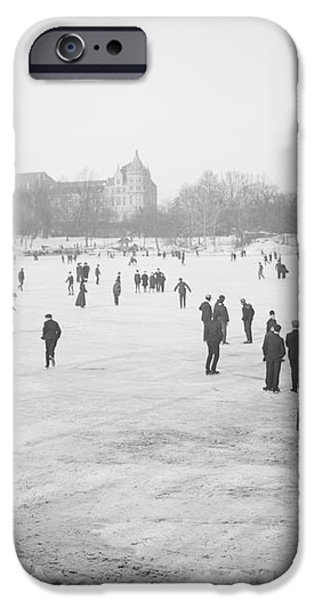 Skating in Central Park iPhone Case by Anonymous