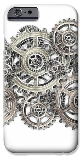 sketch of machinery iPhone Case by Michal Boubin