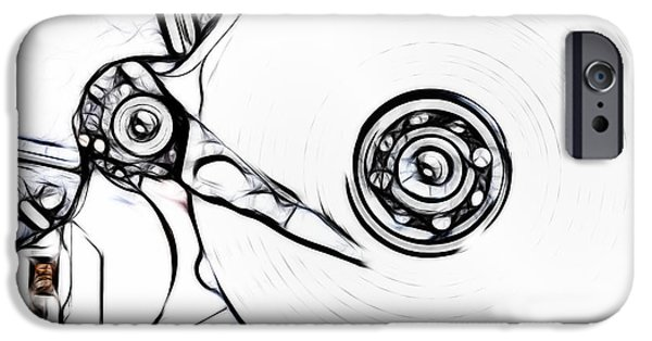 Disc Mixed Media iPhone Cases - Sketch Of The Hard Disk iPhone Case by Michal Boubin