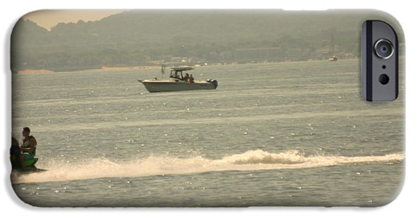 Sea Birds iPhone Cases - Ski and Boat iPhone Case by Eric Brock