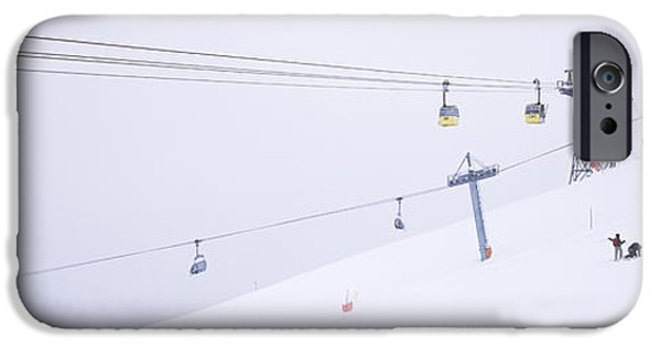 Weekend Activities iPhone Cases - Ski Lifts In A Ski Resort, Arlberg, St iPhone Case by Panoramic Images