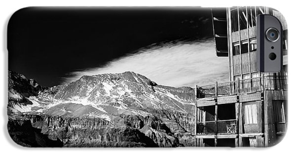 Ski Art iPhone Cases - Ski Lodge in the Andes iPhone Case by John Rizzuto