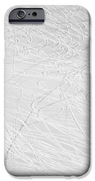 Skiing iPhone Cases - Skiers Abstract iPhone Case by Aaron Spong