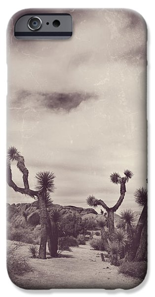 Desert Digital Art iPhone Cases - Skies May Fall iPhone Case by Laurie Search
