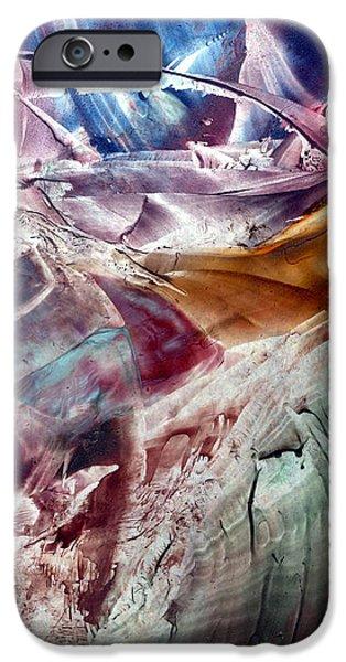Must Art Paintings iPhone Cases - Skies of Nibiru crossing the galactic equator  iPhone Case by Cristina Handrabur
