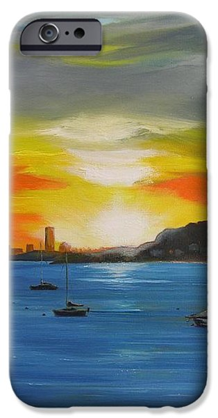 Skies over the City iPhone Case by Barbara Hayes