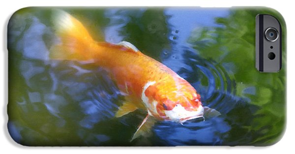 Great Place To Fish iPhone Cases - Skimming the Surface iPhone Case by Spencer Hughes