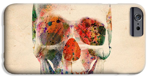 Recently Sold -  - Animation iPhone Cases - Skull 12 iPhone Case by Mark Ashkenazi