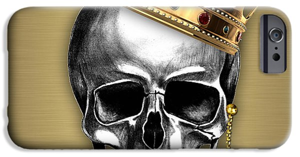 Skull iPhone Cases - Skull Art Collection iPhone Case by Marvin Blaine