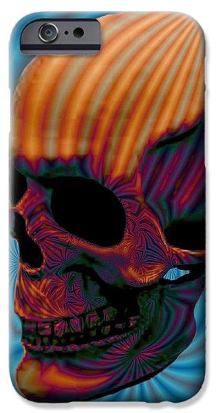 Skull Aura Orange iPhone Case by Jason Saunders