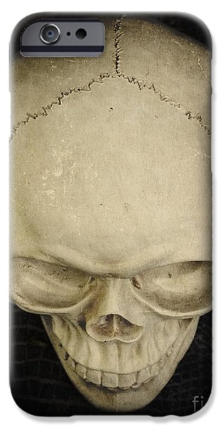 Creepy iPhone Cases - Skull iPhone Case by Edward Fielding