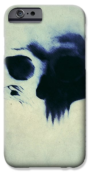 Skull iPhone Cases - Skull iPhone Case by Nicklas Gustafsson
