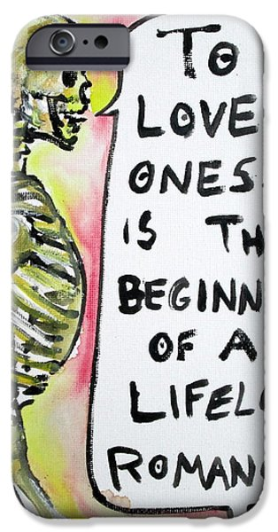 SKULL quoting OSCAR WILDE.9 iPhone Case by Fabrizio Cassetta