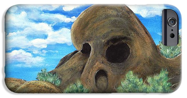 Park Scene Drawings iPhone Cases - Skull Rock iPhone Case by Anastasiya Malakhova