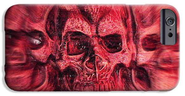 Creepy iPhone Cases - Skullduggery iPhone Case by Nigel Espley