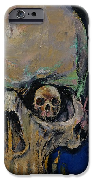 Spooky Paintings iPhone Cases - Vampire iPhone Case by Michael Creese