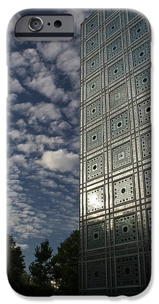 Mechanism iPhone Cases - Sky and building iPhone Case by Gary Eason