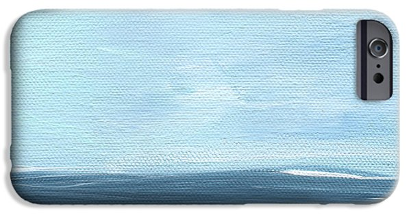 Sea Mixed Media iPhone Cases - Sky and Sea iPhone Case by Linda Woods