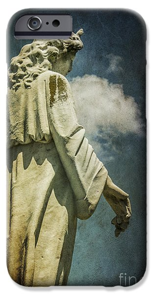 Seraphim Angel iPhone Cases - Sky Angel iPhone Case by Terry Rowe