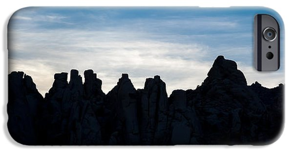 National Preserves iPhone Cases - Sky Castles - The Mojave iPhone Case by Peter Tellone