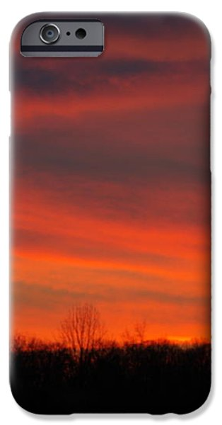 Sky Fire - AOTP 124th NY Infantry Orange Blossoms-2A Sickles Ave Devils Den Sunset Autumn Gettysburg iPhone Case by Michael Mazaika